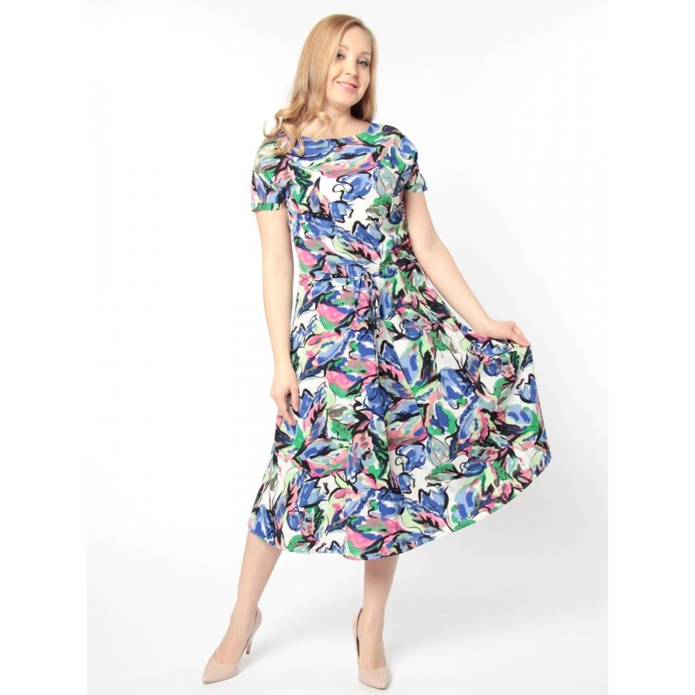 Платье Мишель б41 вискоза цвет зеленый, синий