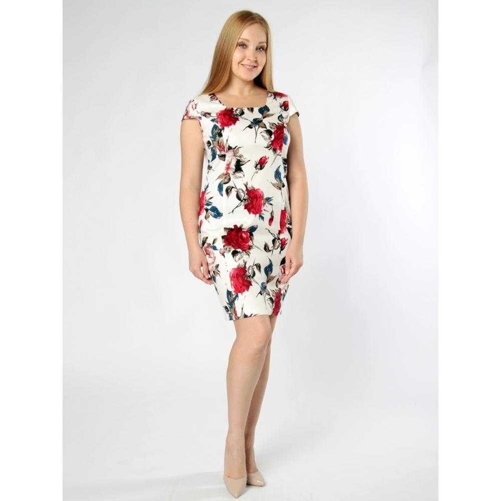 Платье Джулия б63 хлопок цвет белый