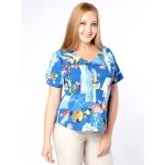 Блузка Амалия б55 поливискозный шелк цвет мультиколор