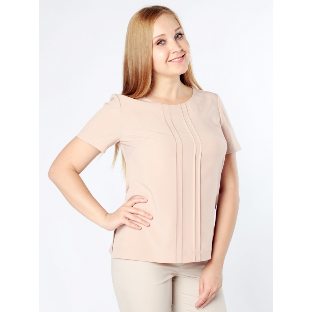 Блузка Ванесса а15 шелк цвет бежевый