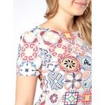 Платье Одри №2 б64 вискоза цвет мультиколор