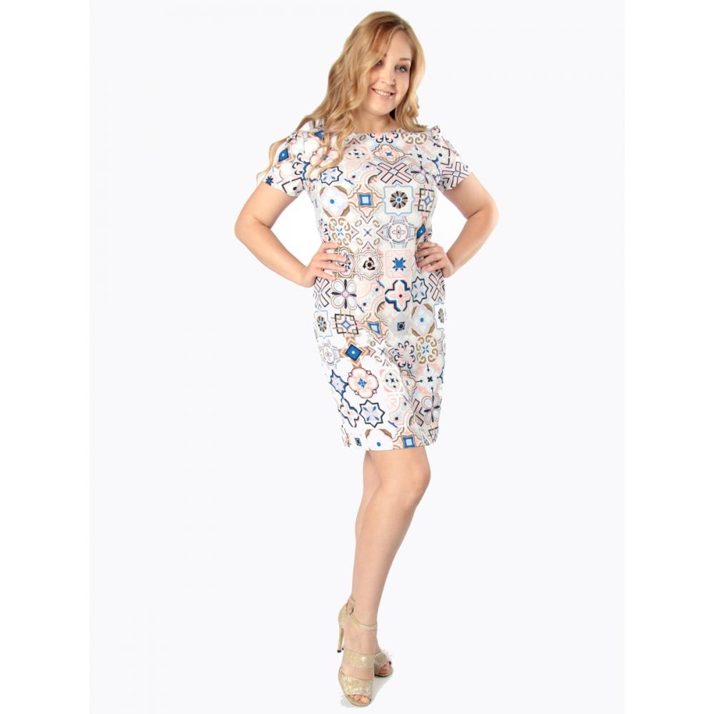 Платье Одри №2 б65 вискоза цвет мультиколор