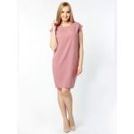 Платье Ирма а84 льняная смесовая цвет розовый