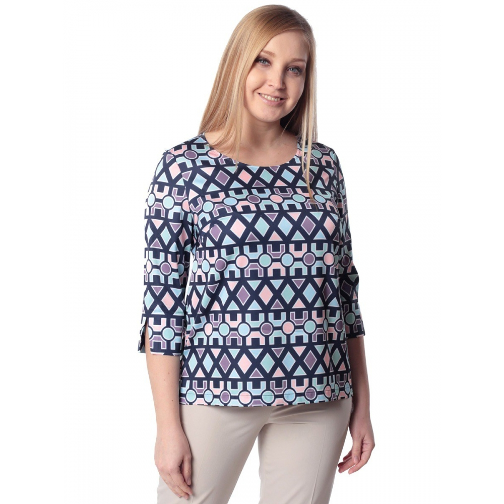 Блуза СЮЗЕТ г05 вискоза цвет синий