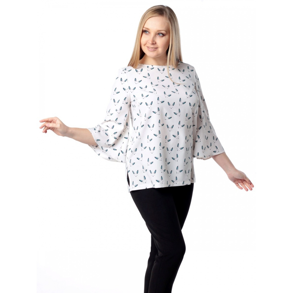Блуза Нателла г10 вискоза цвет молочный
