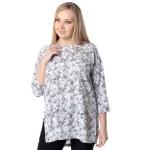 Блуза МУЗА с16 вискоза цвет белый, черный