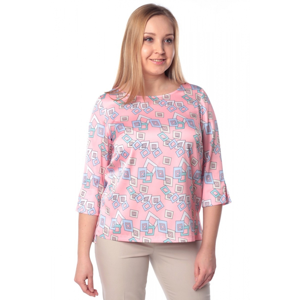 Блуза ТОРИ г22 вискоза цвет коралловый