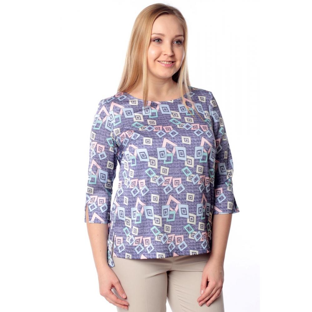 Блуза ТОРИ г24 вискоза цвет синий
