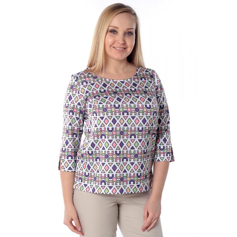 Блуза СЮЗЕТ №2 е12 вискоза цвет белый