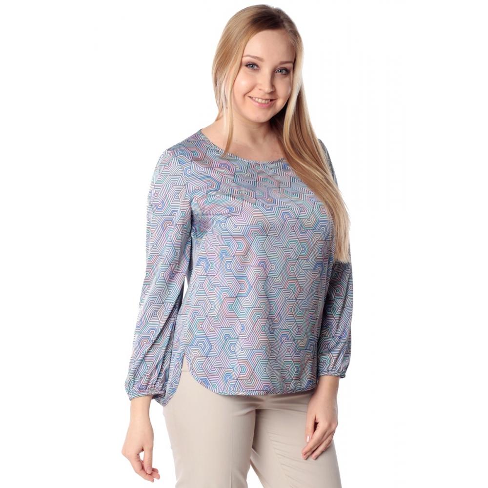 Блуза ДЖИНА №2 г33 вискоза цвет голубой