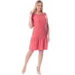 Платье Этюд №2 а01 лен цвет коралловый
