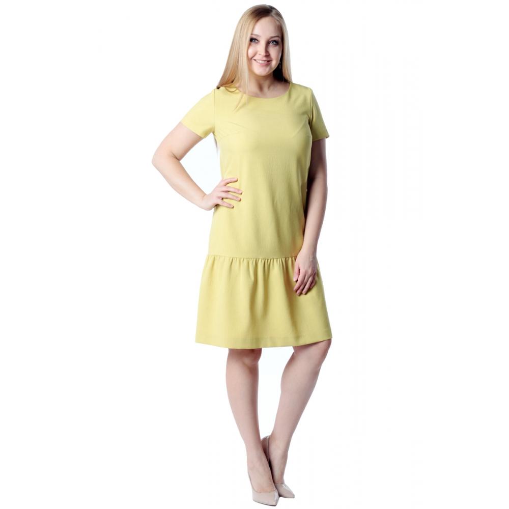 Платье Этюд №2 а20 лен цвет желтый