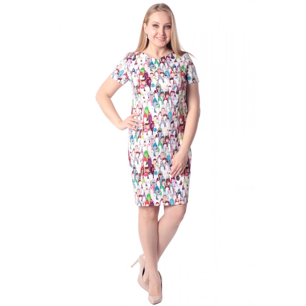 Платье Ева №2 г84 хлопок цвет мультиколор