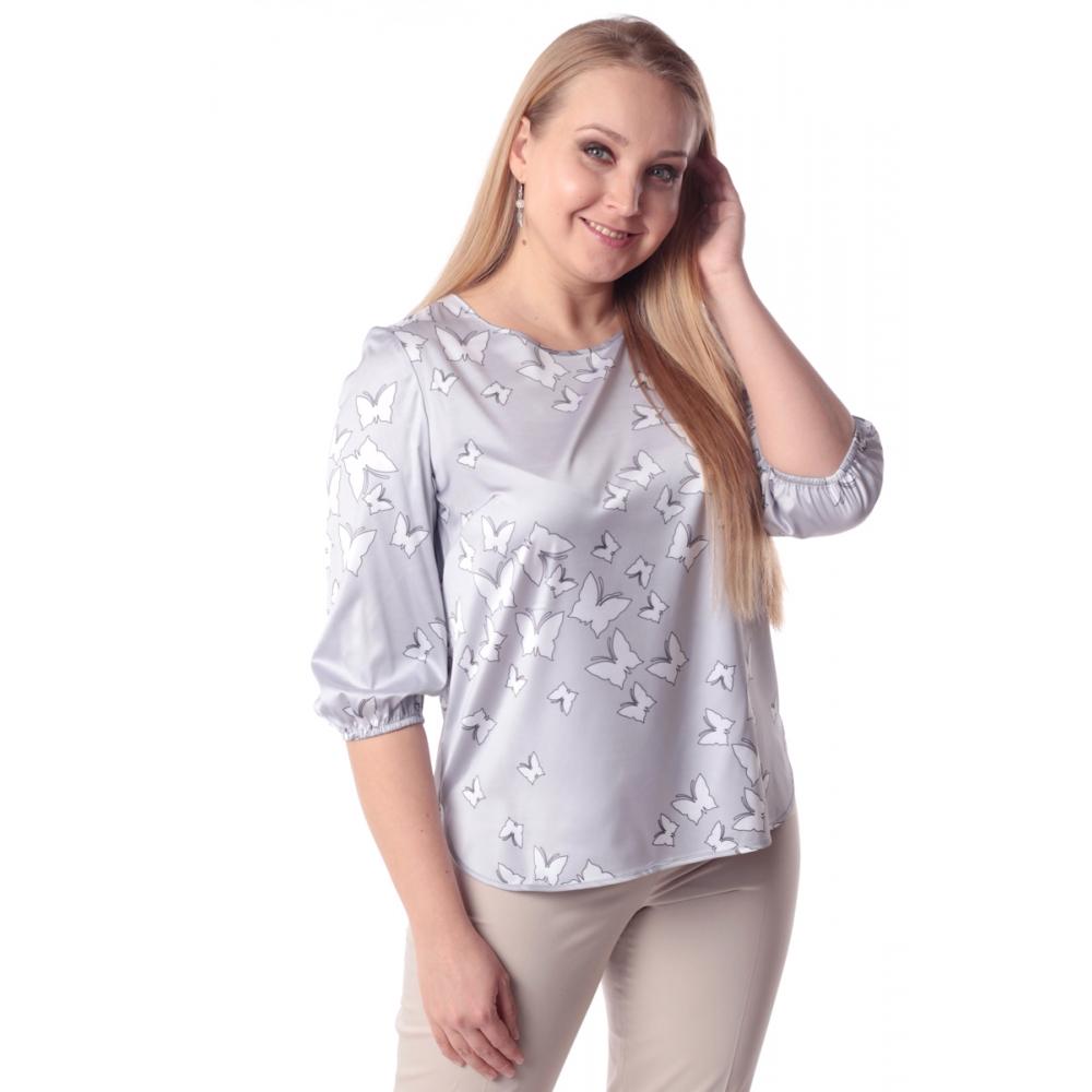 Блуза ДЖИНА №4 г93 вискоза цвет серый