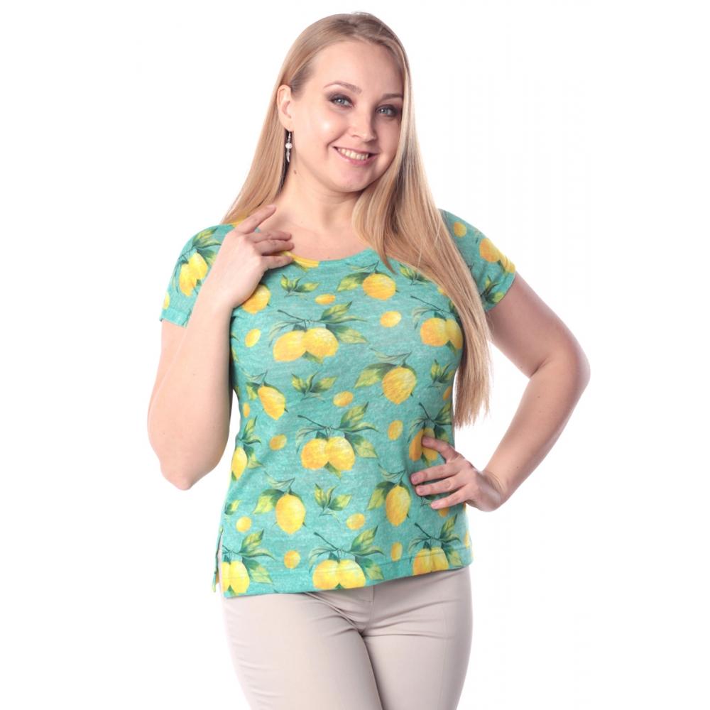 Блузка ЦИТРОН г94 вискоза цвет мятный