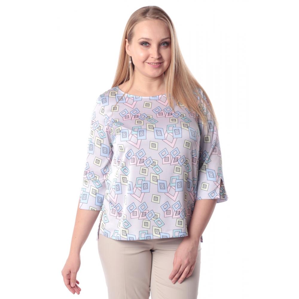 Блуза ТОРИ г83 вискоза цвет серо-розовый