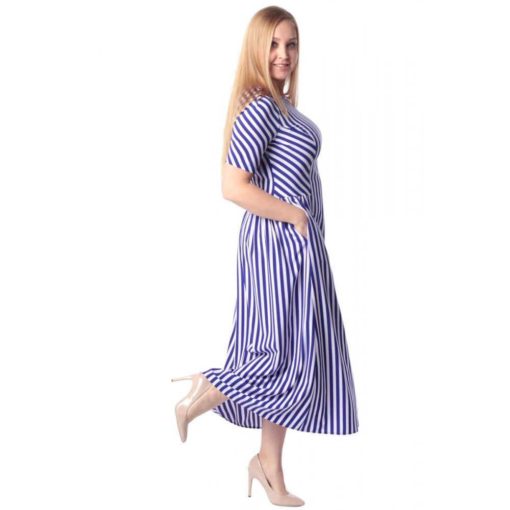 Платье Дэя г87 вискоза цвет васильковый
