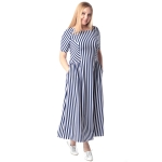 Платье Дэя г89 вискоза цвет темно-синий