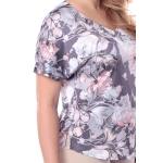 Блузка Амалия №3  поливискозный шелк цвет серый, розовый