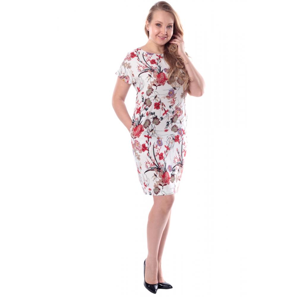 Платье ЛАДА бб04 хлопок цвет красный
