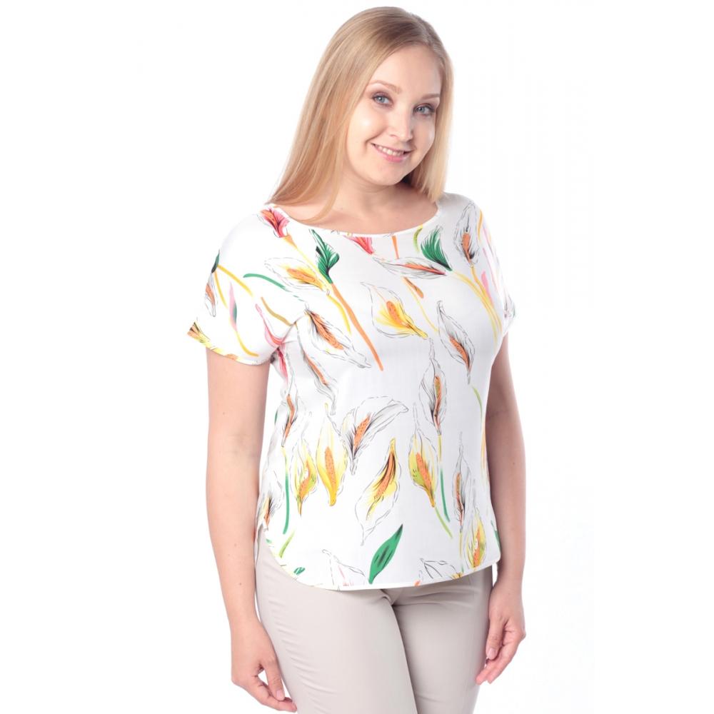 Блузка ЛИЛЯ №3 бб07 хлопок цвет желтый