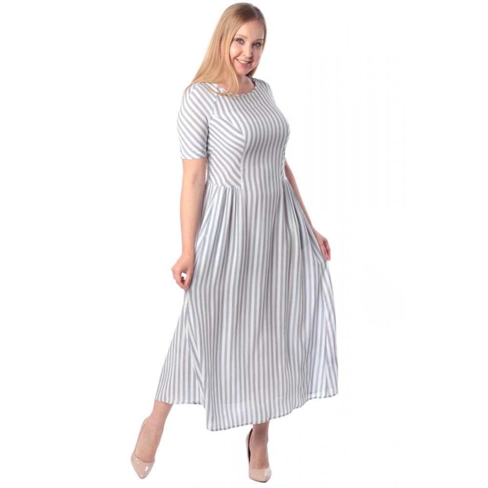 Платье Дэя №3 бб09 хлопок цвет серый