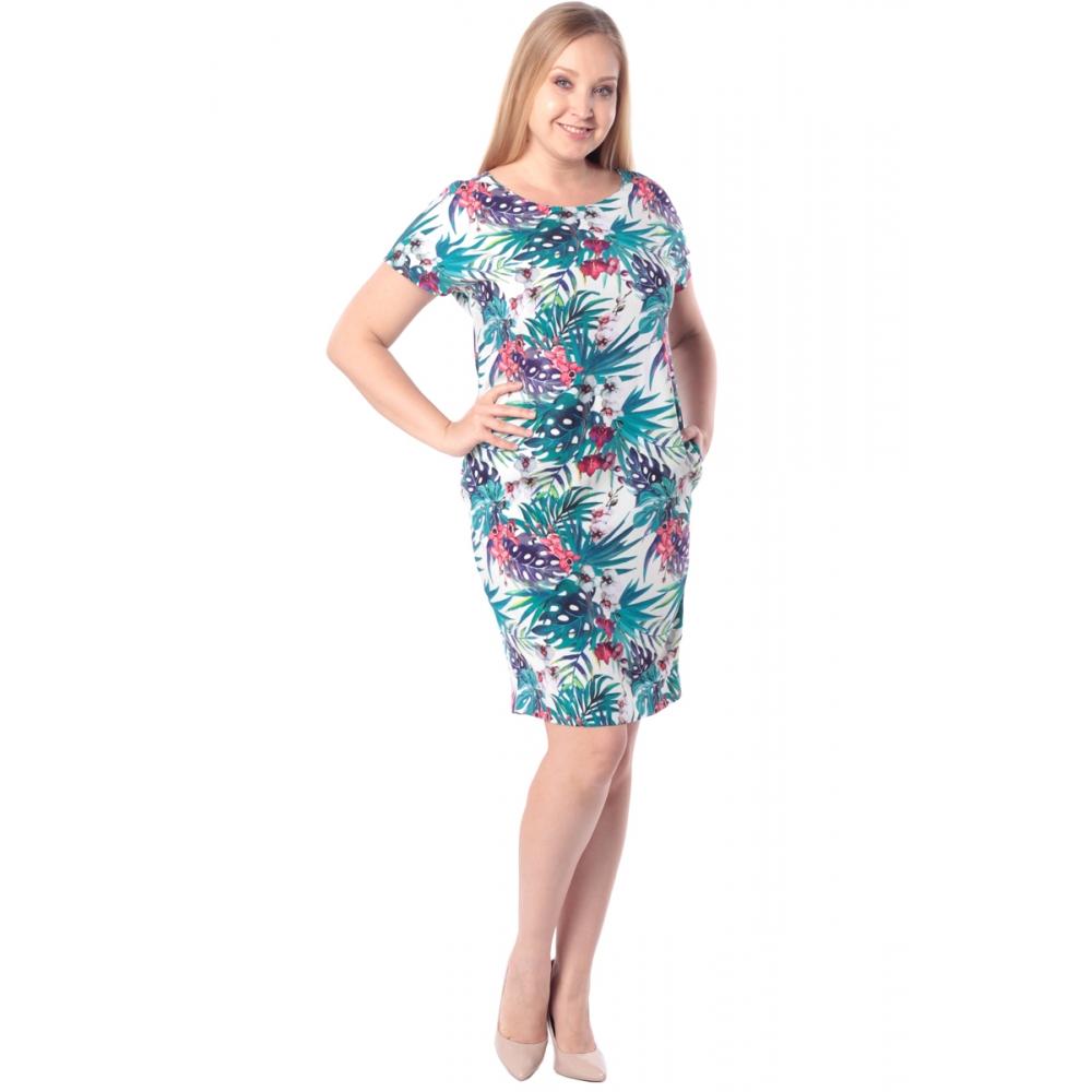 Платье ЛАРА бб15 вискоза цвет морская волна