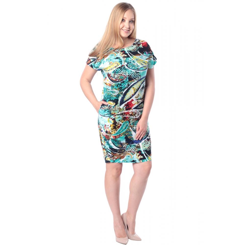 Платье ЛАРА бб16 вискоза цвет зеленый