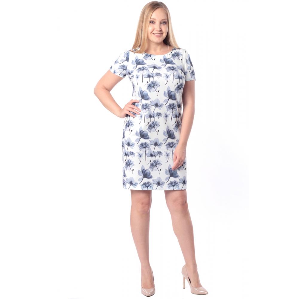 Платье САБРИНА №3 г60 вискоза цвет белый