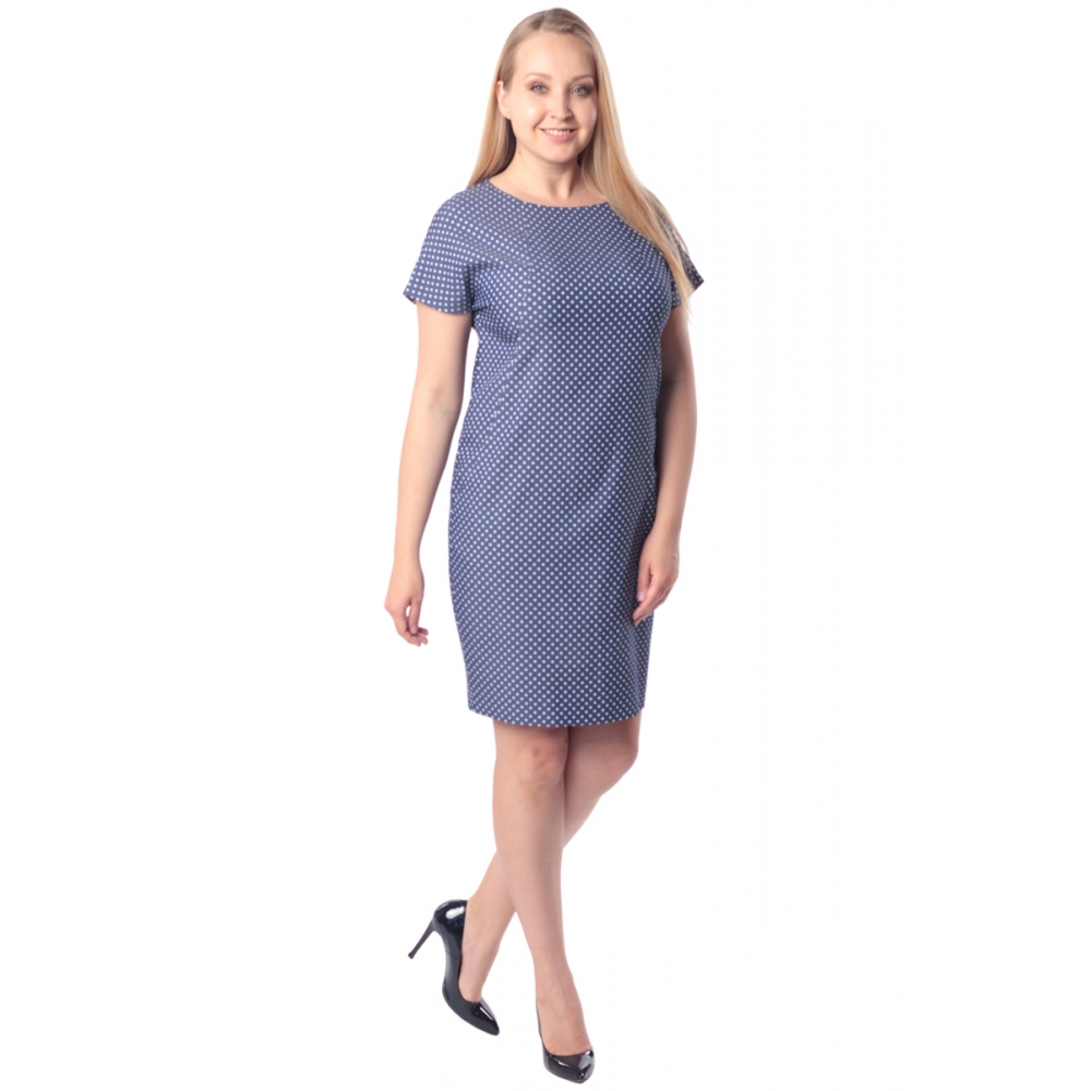 Платье Луиза №3 бб13 вискоза цвет синий