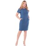 Платье Луиза №2 а18 льняная смесовая цвет синий