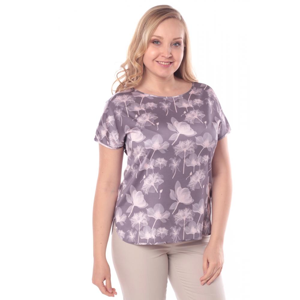 Блузка ЛИЛЯ г61 вискоза цвет серый