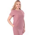 Платье Луиза №2 а84 льняная смесовая цвет розовый