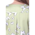 Блуза Бьянка г91 вискоза цвет зеленый