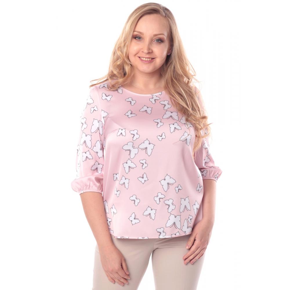 Блуза ДЖИНА №4 г92 вискоза цвет пудра