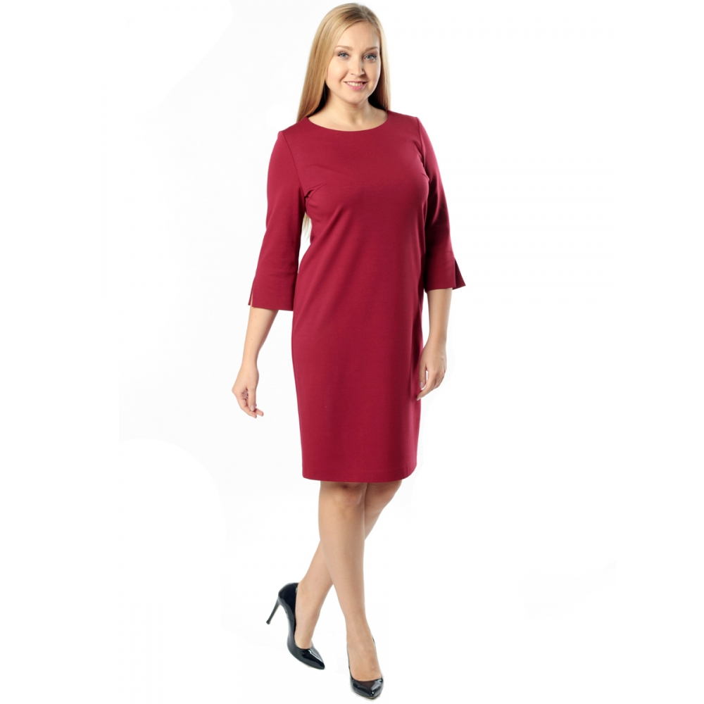 Платье КОРНЕЛИЯ а22 вискоза цвет бордовый