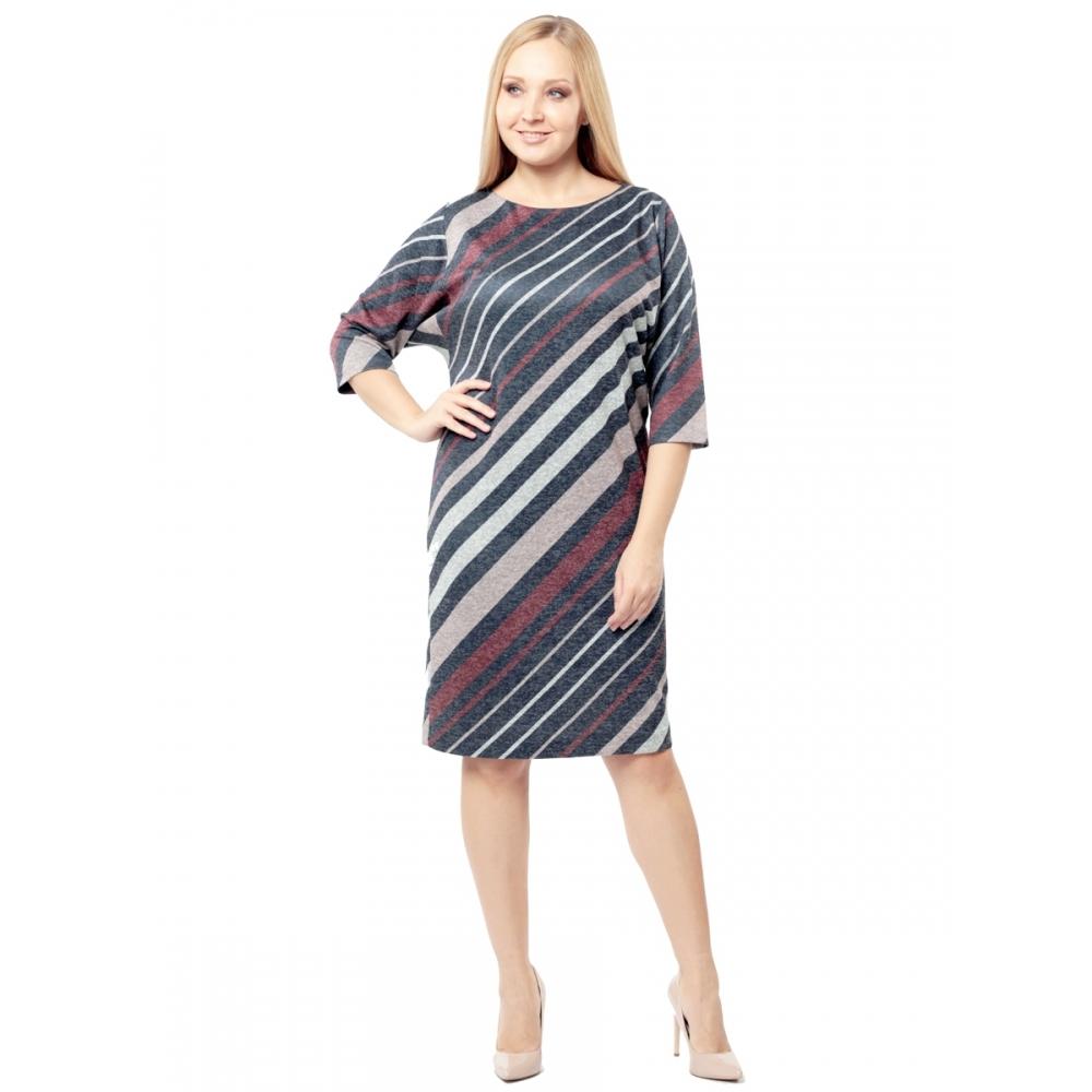 Платье ЭМИЛИ в56 вискоза цвет малиновый