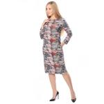 Платье ЛУРДЕС в63 вискоза цвет серый