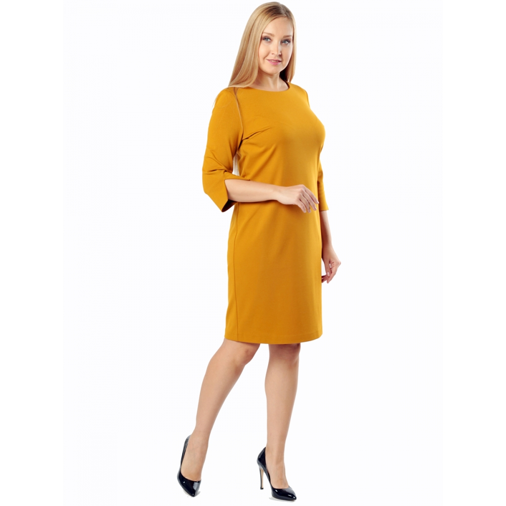 Платье КОРНЕЛИЯ а67 вискоза цвет горчичный