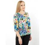 Блуза Русана б02 шелк цвет мультиколор