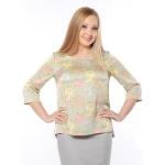 Блуза Русана №2 т89 шелк цвет мультиколор