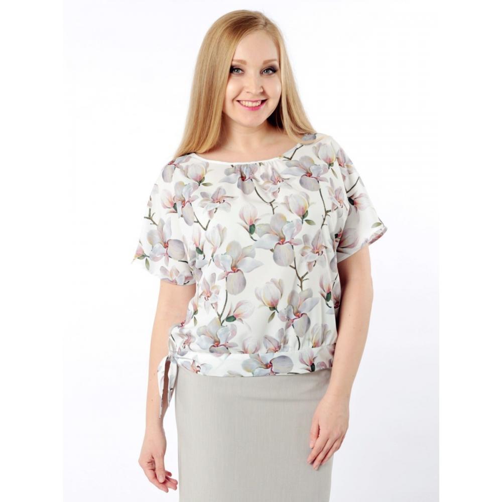 Блузка Саманта №5 б07 шелк цвет белый