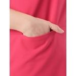 Платье Джоан а55 костюмная цвет коралловый