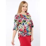 Блуза Русана б01 шелк цвет мультиколор