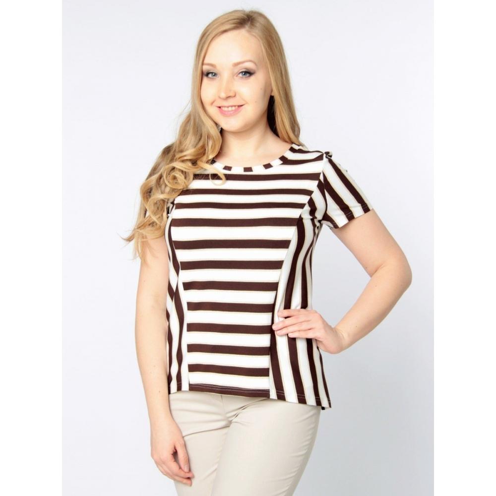Блуза Марион в06 вискоза цвет коричневый