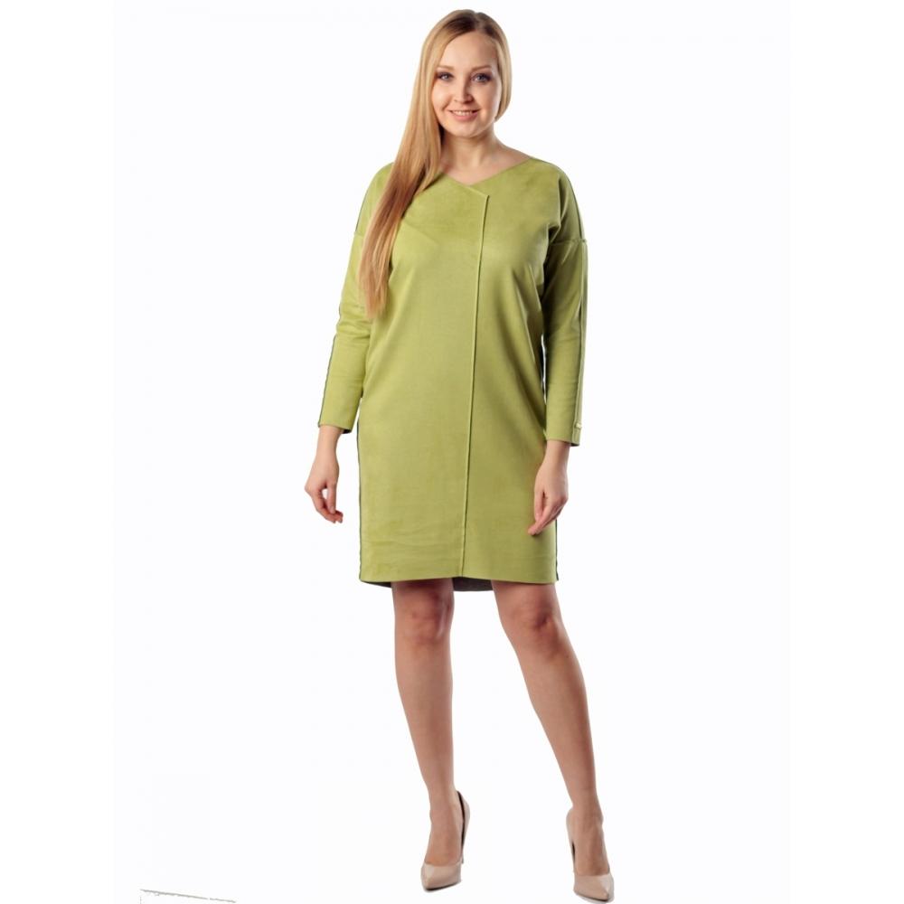 Платье МОНТАНА а16 эко замша цвет салатовый