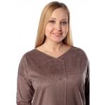 Платье МОНТАНА а84 эко замша цвет коричневый