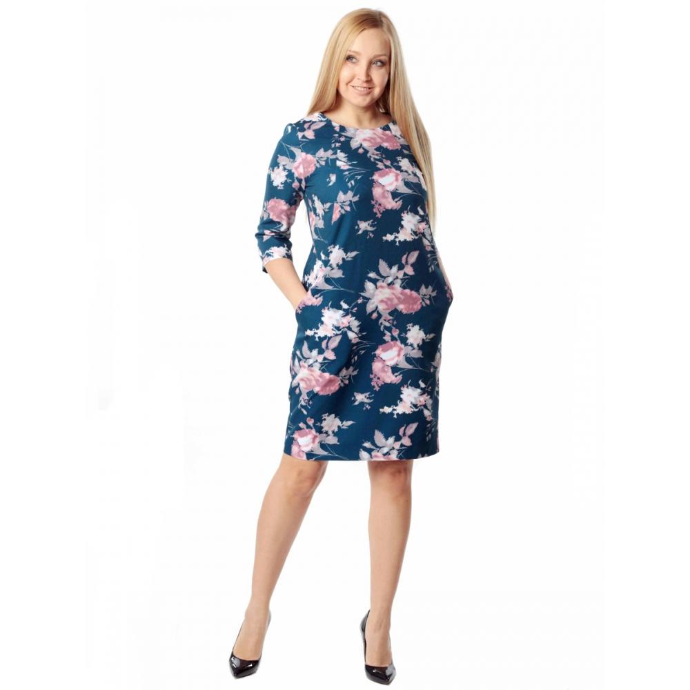 Платье Рондо №3 с53 вискоза цвет полуночно-синий