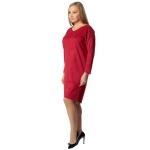 Платье МОНТАНА а55 эко замша цвет красный