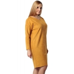 Платье МОНТАНА а67 эко замша цвет горчица